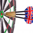 Darts in aim — Stock Photo