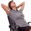 Woman leaning back on a chair — Stock Photo #4003139