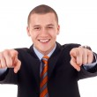 Business man pointing — Stock Photo