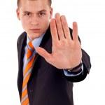 boos jonge mannelijke zeggen stop — Stockfoto