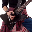 Guitar being played — Stock Photo