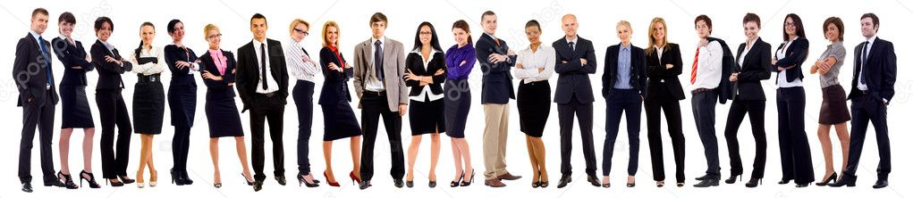 Successful happy business team, isolated on white  — Stok fotoğraf #4198720
