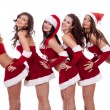 Santa girls posing — Stock Photo