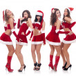 Santa women talking and laughing — Stock Photo #4377053