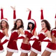 Group of santa women — Stock Photo #4377056