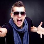 hombre moda gritando — Foto de Stock