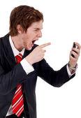 Homem de negócios com raiva — Foto Stock