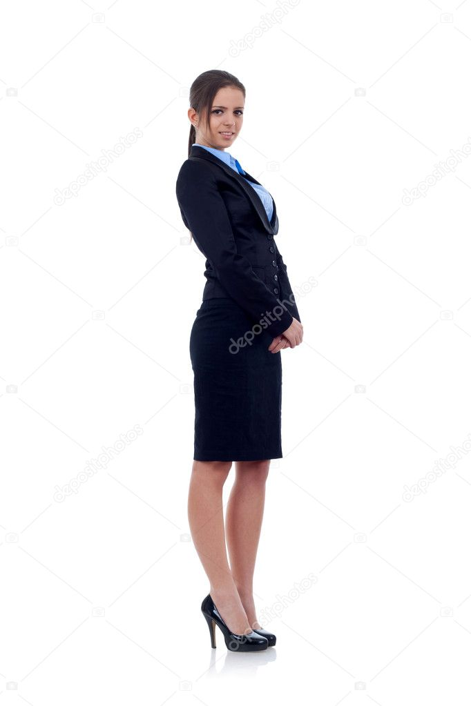 Smiling business woman. Isolated over white background — Stock Photo #4748439