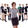 Royalty-Free Stock Photo: Business woman presenting her team