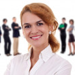 Businesswoman and her team — Stock Photo