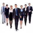 Stock Photo: Business team walking forward