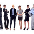 Foto Stock: Businessteam formed of businessmen and businesswomen