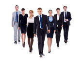 Team di business camminare avanti — Foto Stock