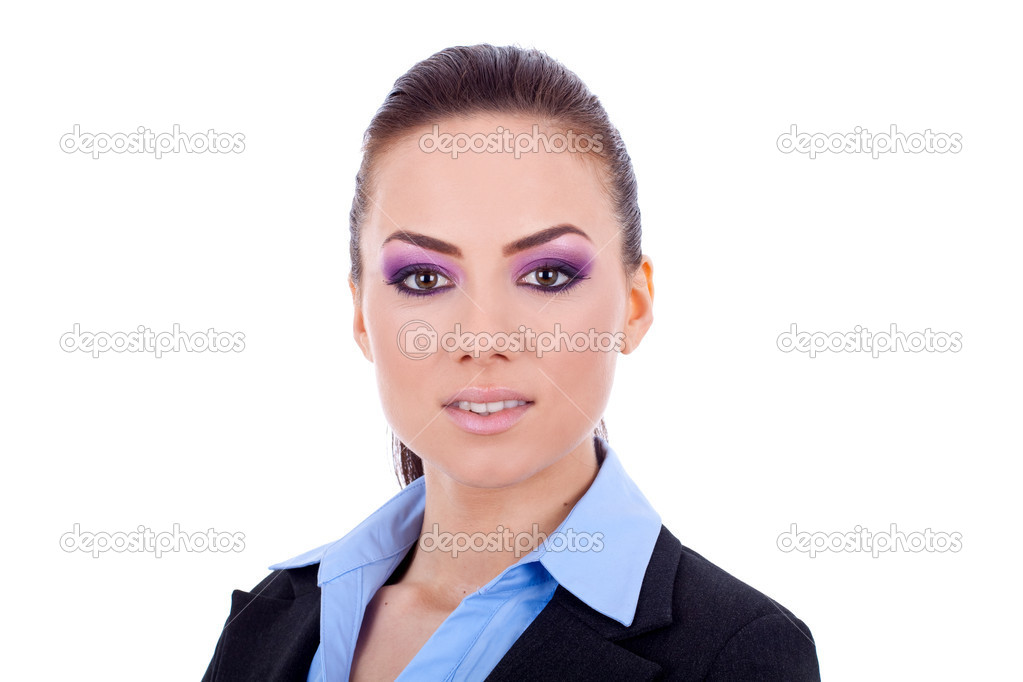 Closeup picture of a beautiful business woman's face — Stock Photo #4996993