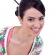 Happy young woman smiling — Stock Photo #5122617