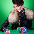 Poker face — Stockfoto