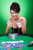 Four of a kind - aces against kings — Stock Photo