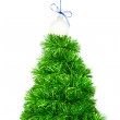 Beautiful Christmas tree made from tinsel — Stock Photo