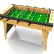 Foosball table. - Stock Photo