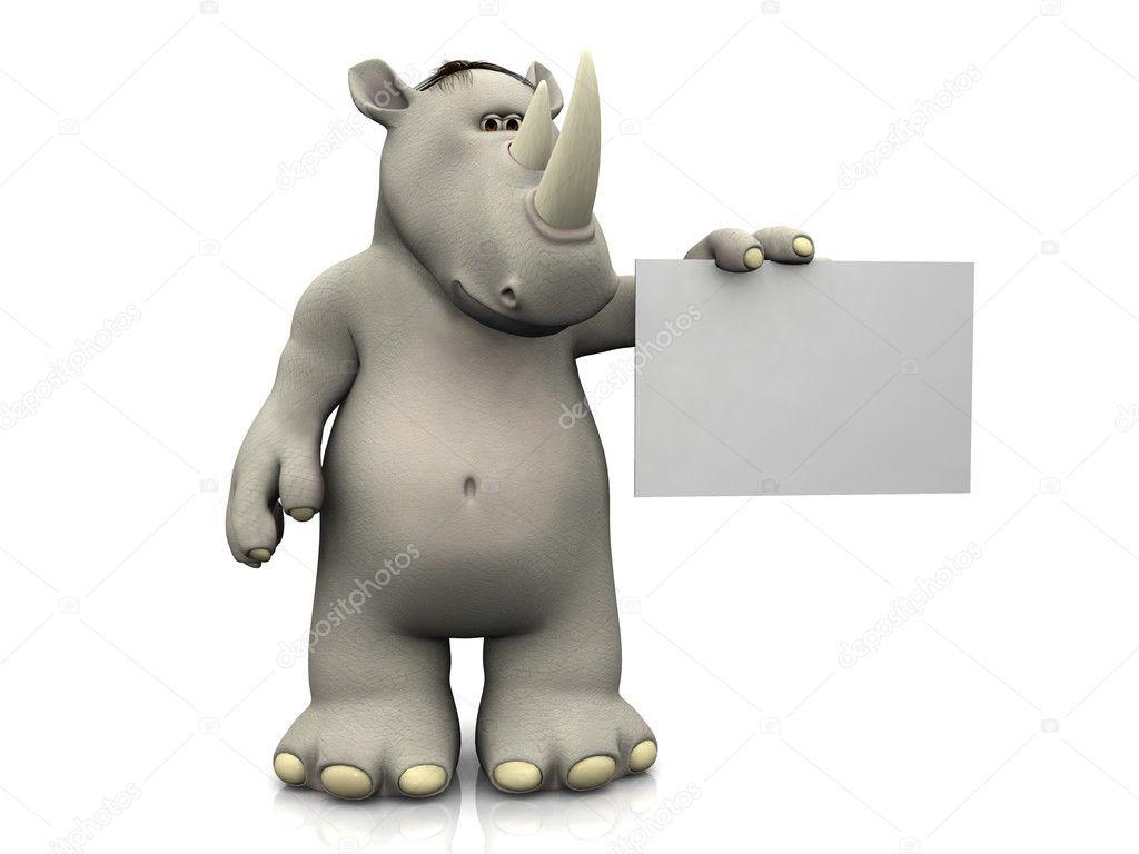 Dibujo Animado Rinoceronte un Rinoceronte de Dibujos