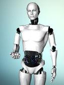 Robot man inviting you. — Stock Photo