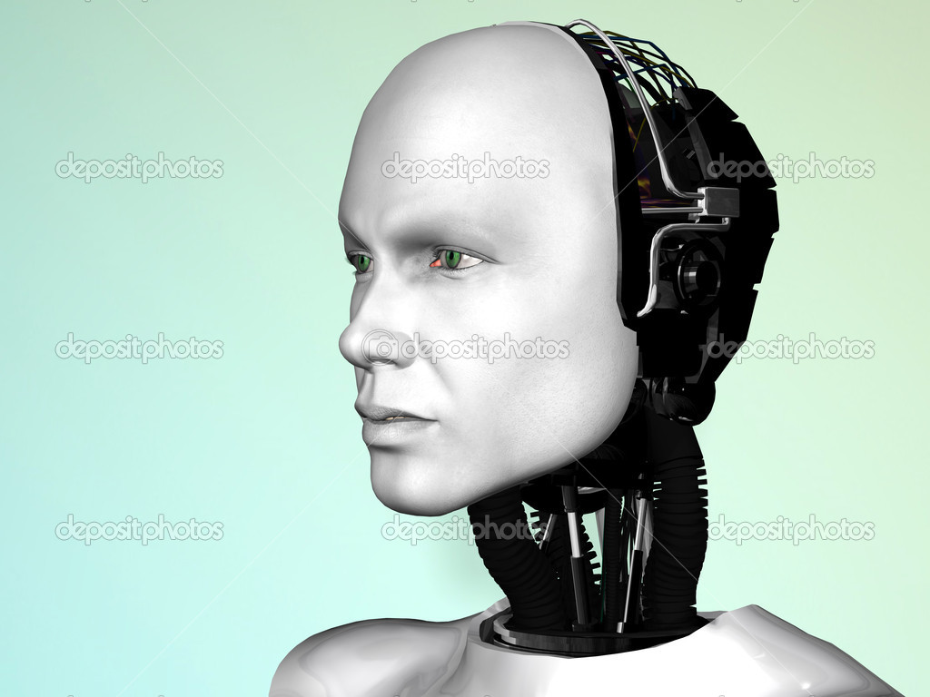An image of a robot man's head. — Stock Photo #4200164