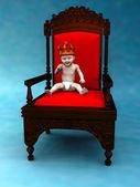Baby prince — Stock Photo