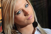 Gorgeous blond young woman — Stock Photo