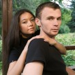 Young couple in park — Stock Photo #4432233