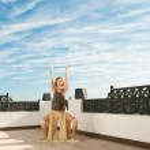 Yoga dance — Stock Photo
