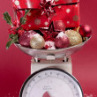Kerstmis decoratie close-up over Wit — Stockfoto #4257632
