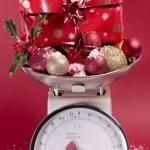 Navidad decoraciones closeup sobre blanco — Foto de Stock