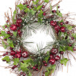 Christmas wreath decorations — Stock Photo #4347476