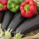 Fresh vegetables in basket — Stock Photo #4348740