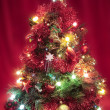 Christmas tree with decorations closeup — Stockfoto