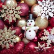 Christmas decorations closeup — Foto Stock