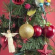 Christmas decorations closeup — Stockfoto