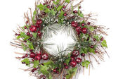 Christmas wreath decorations — Stock Photo
