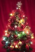 Christmas tree with decorations closeup — Stock Photo