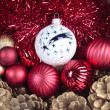 Christmas decorations closeup — Stock fotografie
