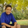Preteen in autumn - Stock Photo