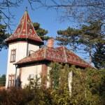 Ethno house-castle — Stock Photo