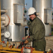 Worker in the oil industry — Stock Photo
