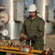 Worker in the oil industry — Stock Photo #4338367