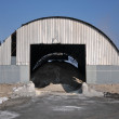 Hangar for raw materials — Stock Photo
