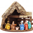 Nativity Scene with Stable — Stock Photo