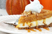 Double Layer No Bake Pumpkin Pie — Stock Photo