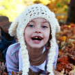 Child in Autumn — Foto Stock