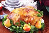 Christmas Turkey Dinner — Stock Photo