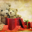 Teddy Bear Christmas — Stock Photo